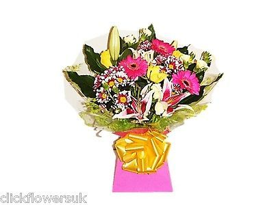 Fresh real #flowers #delivered uk bright and cheerful florist #choice bouquet,  View more on the LINK: 	http://www.zeppy.io/product/gb/2/222237101685/
