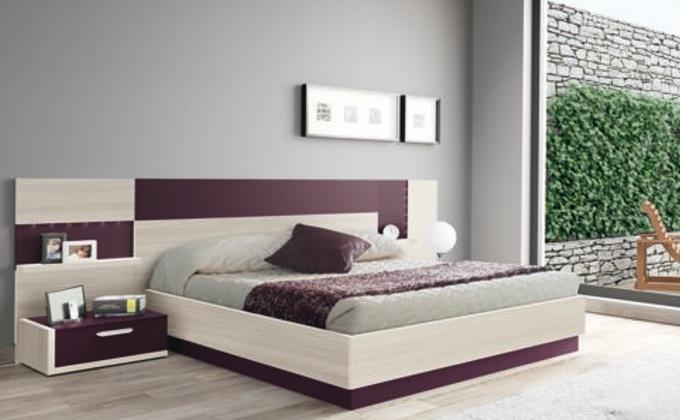 Mueble de habitación moderna con acabados de colores distintos.