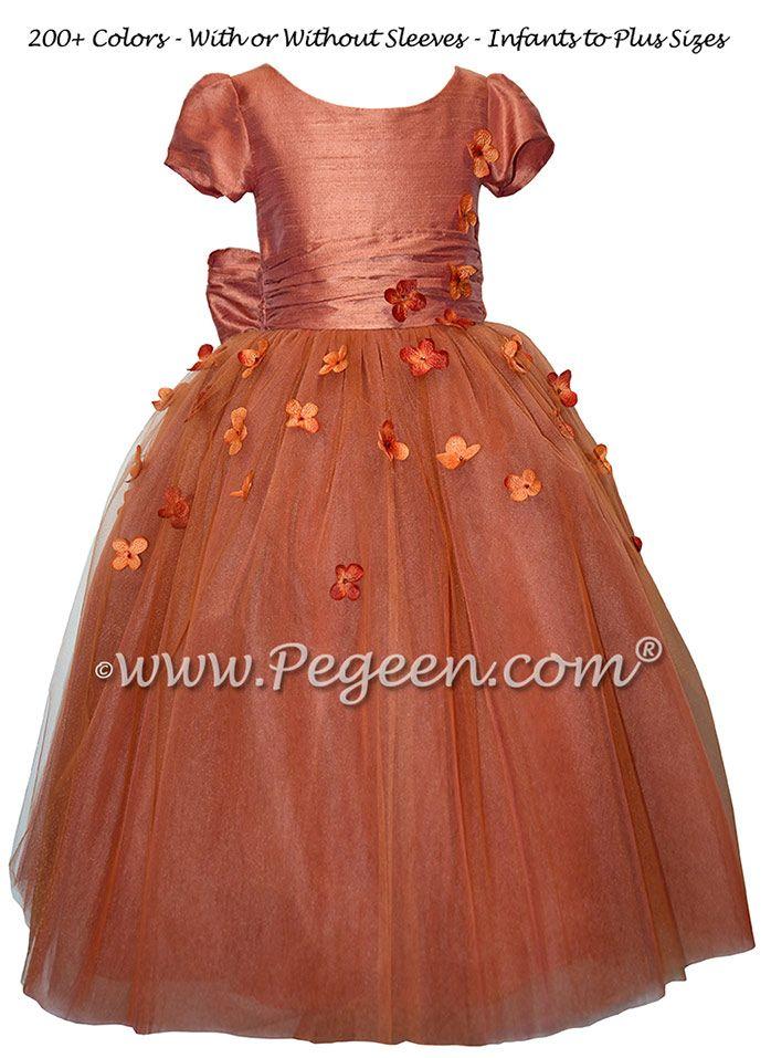 323 best Orange Flower Girl Dresses images on Pinterest | Dresses ...