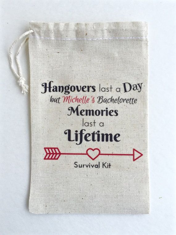 10 Bachelorette Party Favor Hangover Kit Survival Kit