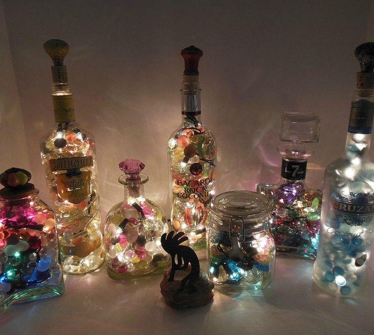 s 17 stunning ideas for your dollar store gems, crafts, gardening, Arrange a sparkling bottle display