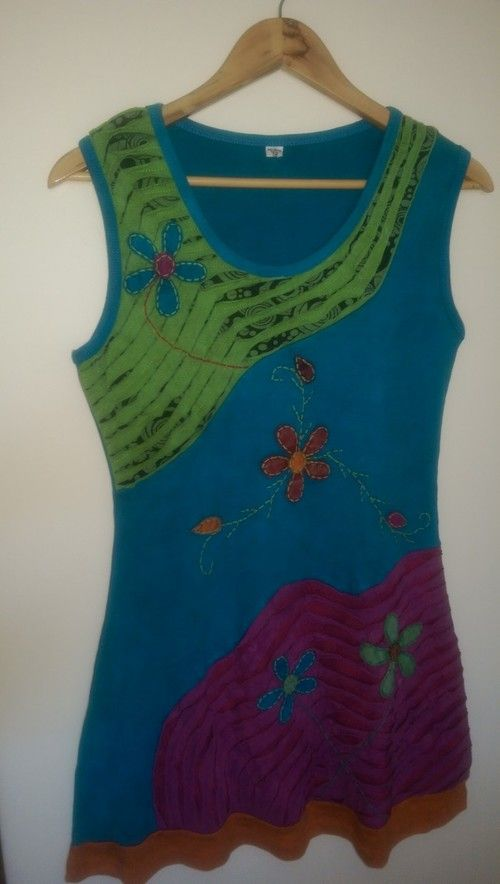 Fun Embroidered Tunic Dress - Lt teal blue.jpg