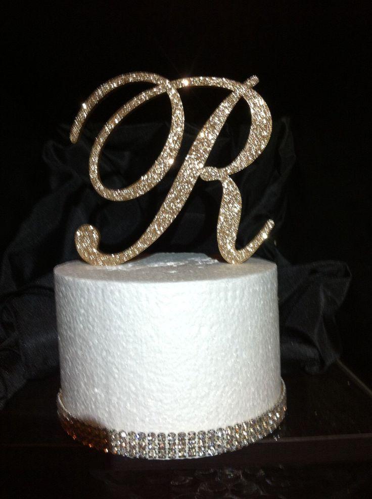 Glitter Cake Topper. Monogram Cake Topper. Cake Topper. Wedding Topper. Birthday Cake Topper. Cupcake Topper. Glitter. Glitter Cake. by BradfordsLetterGlitz on Etsy https://www.etsy.com/listing/208643594/glitter-cake-topper-monogram-cake-topper