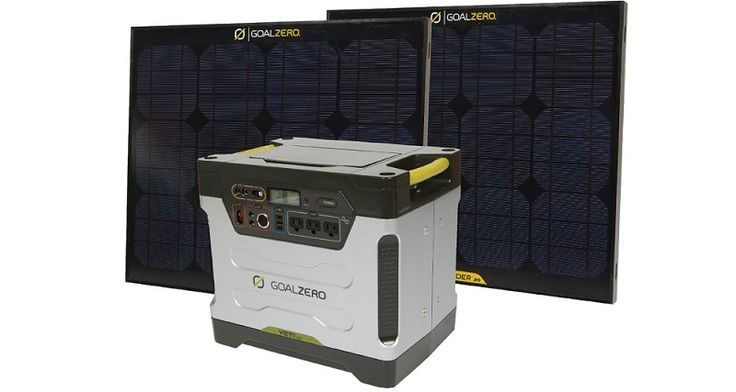 Yeti 1250 Solar Generator Kit by Goal Zero Bundled with Two Boulder 30 Solar Panels