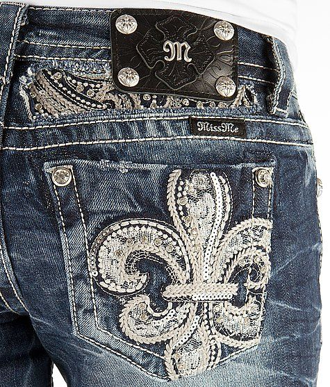 'Miss Me Fleur Slim Boot Stretch Jean' #buckle #fashion www.buckle.com