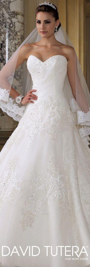 The David Tutera for Mon Cheri Wedding Gown Collection - Style No. 112222 - Eldora davidtuteraformoncheri.com  #weddingdresses #weddinggowns