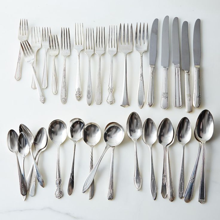 Vintage Silver-Plated Eclectic Flatware (Sets of 4) on Food52