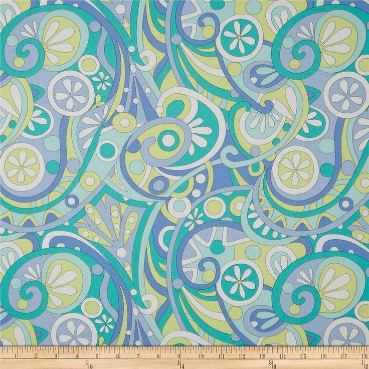 36 best fab fabrics images on pinterest michael miller fabric michael miller lagoon mod swirls aqua from fabricdotcom designed for michael miller this fabric sciox Images
