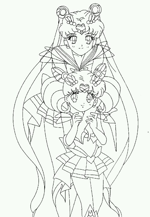 chibi moon coloring pages - photo#33