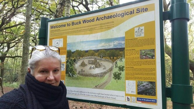 Casually posing by the board in Buck Wood, Thackley, Bradford UK I illustrated :)