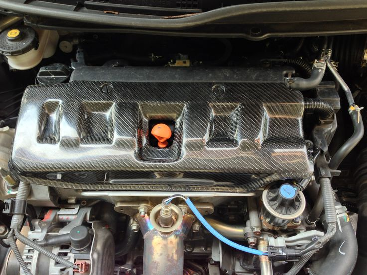 Carbon cover engine Honda Civic FB #aeromotiveindustry #carbon #hondacivic