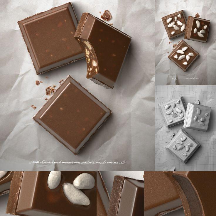 Tim Cooper, 3D advertisement of chocolate