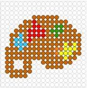 Deze kralenplank en vele andere in het thema kunst kun je vinden op de website van Juf Milou.