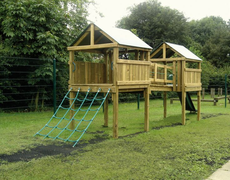 home front commercial residential outdoor wood play equipment children system timber canyon adventurer clubhouse - Backyard Playground Equipment