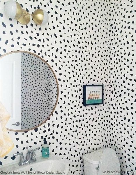 Go wild with our Cheetah Spots stencil for stenciling walls, floors, and curtains. Go for modern day drama with a classic animal print pattern.