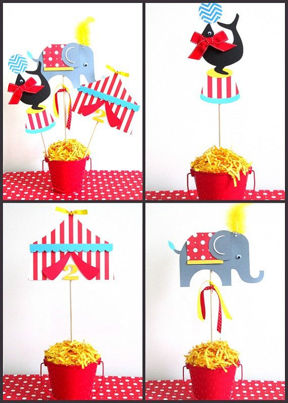 Circus Party Decorations Circus Centerpieces Set by LaLaLissyLou