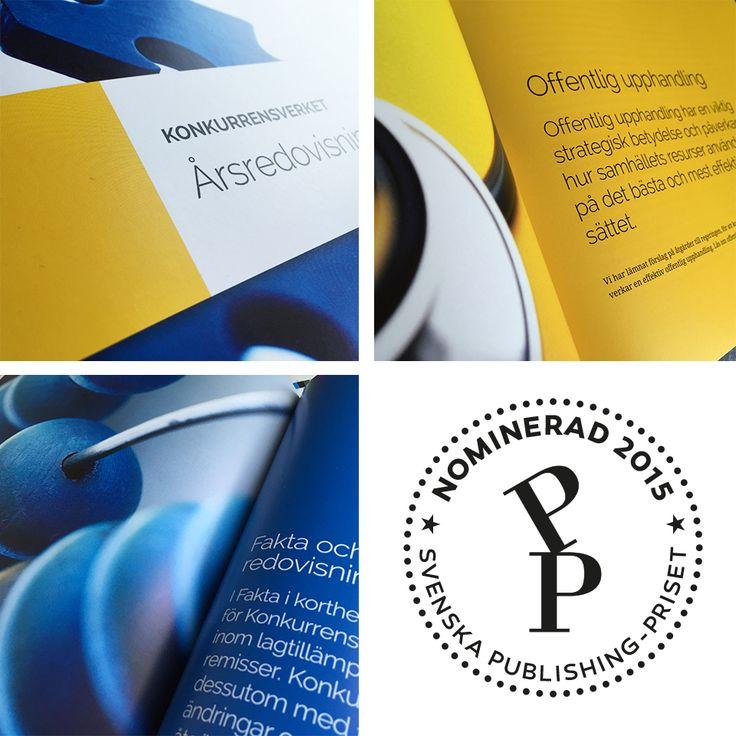 Jag har tagit fram en ny grafisk profil till Konkurrensverket och en av trycksakerna med det nya utseendet blev nominerad i Svenska Publishing-priset i kategorin Bästa årsredovisning 2015.