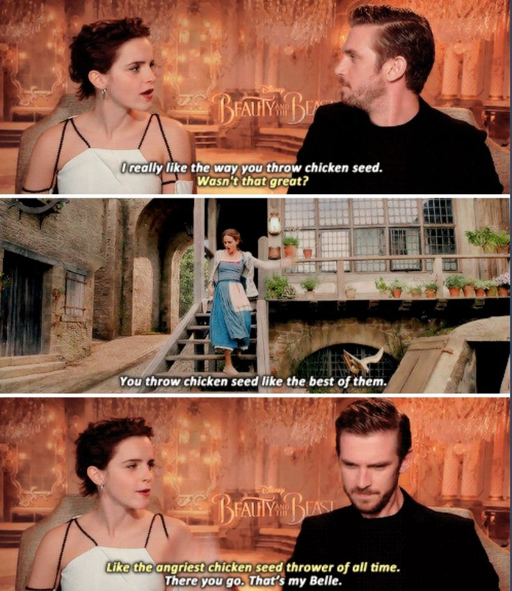Emma Watson and Dan Stevens - Beauty and the Beast cast