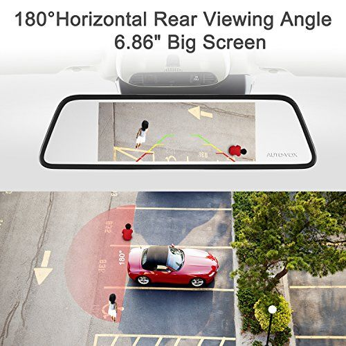 AUTO-VOX M8 Mirror Dash Cam Backup Camera Kit 180°Horizontal View Angle Back up Car Camera and 1296P Large Touch Screen with Lane Departure Warning System, Security Alarm & Motion Detection   HD Dash Cam Reviews