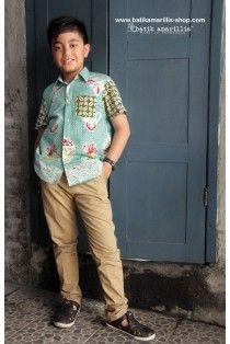 batik amarillis's boy classic shirt