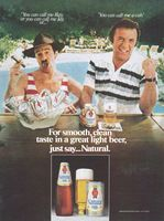 Natural Light, Norm Crosby 1980 Ad Picture