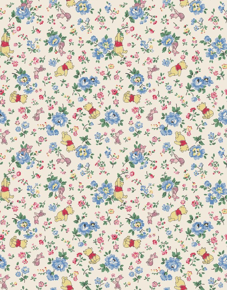 Bramley Sprig & Friends | Mini Pooh and Piglet play amongst our delicate ditsy flowers | Disney X Cath Kidston 2016 |