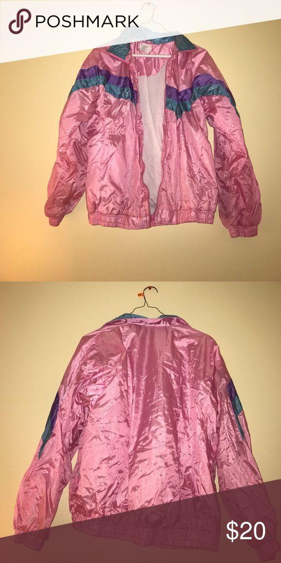 Pink retro Windbreaker Nice simple fashionable vintage Windbreaker Jackets & Coats Windbreakers