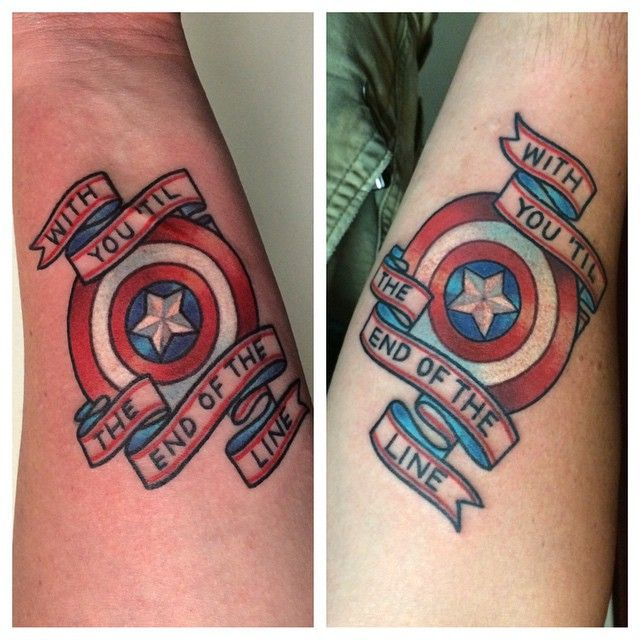 ❤️ With You 'Til The End of the Line. These Captain America inspired couples…