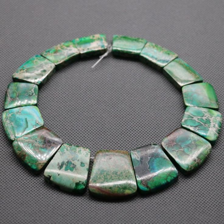 2018 Top Quality Natural Green Gem Stone Emperor Beads 17 35mm Freeform Imperial Jasper Beads Slice Beaded Bracelet Wholesale From Cinderallachan, $13.57 | Dhgate.Com