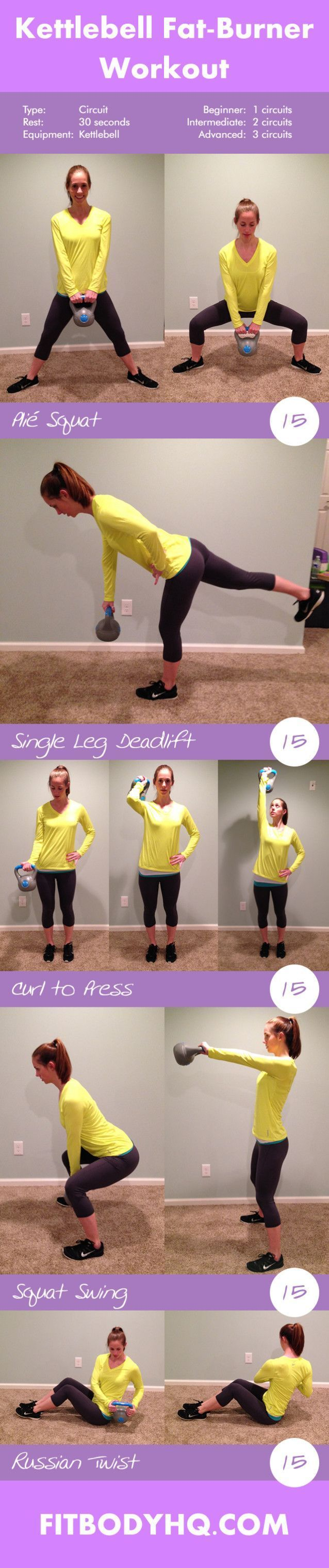 awesome Kettlebell Fat-Burner Workout - FitBodyHQ