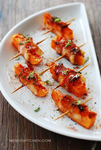 Sweet Potato Bacon Roll by messywitchen #Sweet_Potato #Bacon #Appetizer #messywitchen