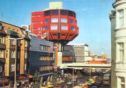 "Tower Restaurant (1972-76), commonly referred to as ""Bierpinsel"", in Berlin, Germany, by Ralf Schüler & Ursulina Schüler-Witte"