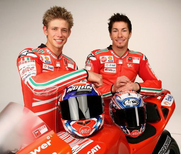 Casey Stoner and Nicky Hayden Photo - 2009 Wroom F1 Press Meeting - Day 3