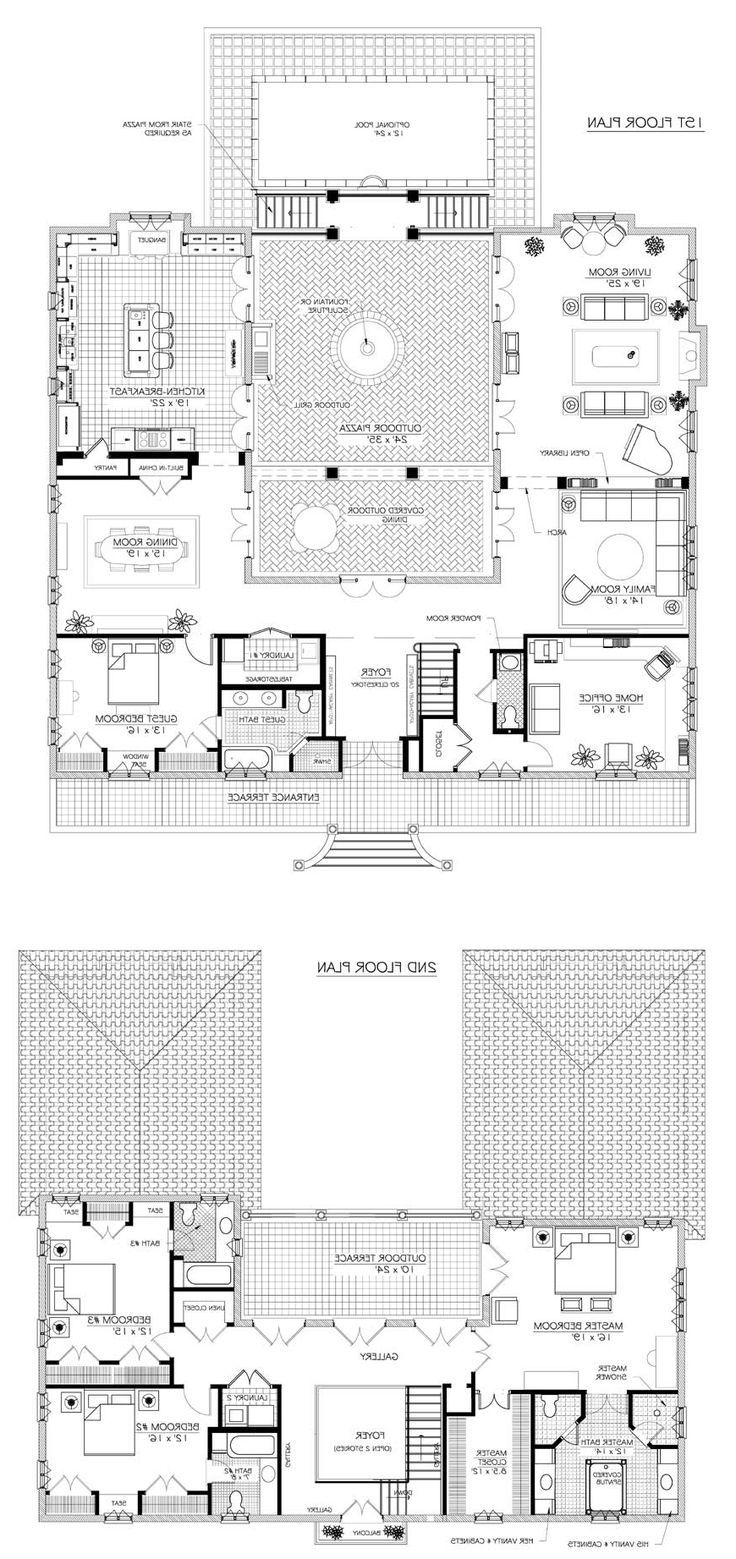 French Country Acadian House Plans In Home Plan