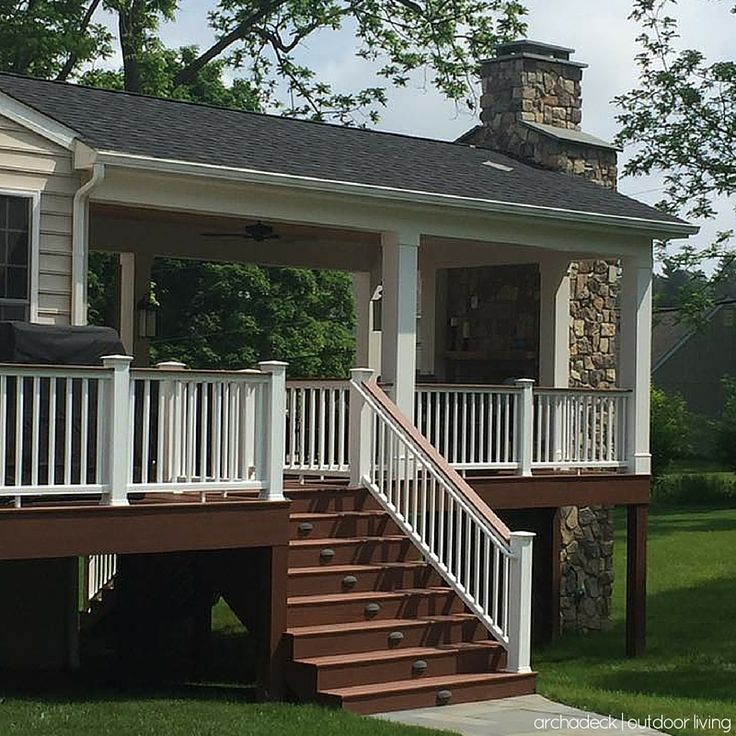 117 best Covered deck and patio ideas images on Pinterest ... on Covered Back Deck Ideas id=52667