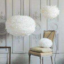 Aurora Vita Eos Feather Pendant Shades in White