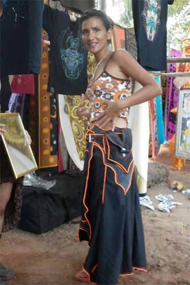 space out psytrance clothing tribe ~ Nixen skirt