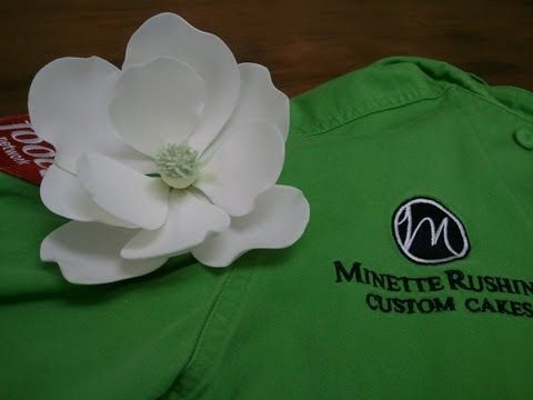 How to Make a Gumpaste Magnolia (Part 1 of 3) - YouTube