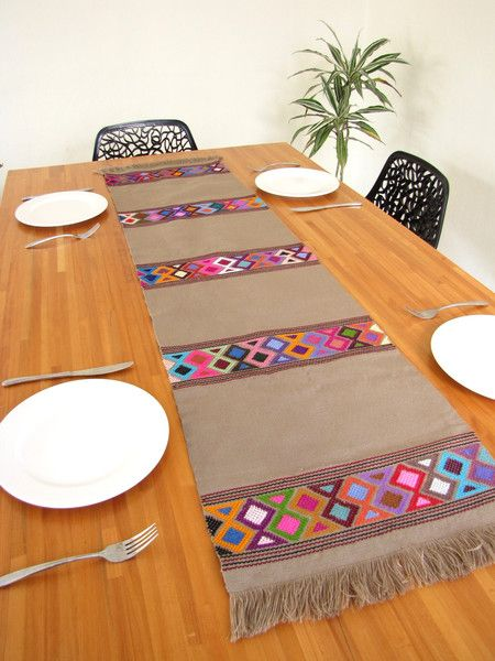 Handwoven Table Runner | Mexican Folk Art | ChiapasBazaar.com | Handmade by Rural Master Artisans