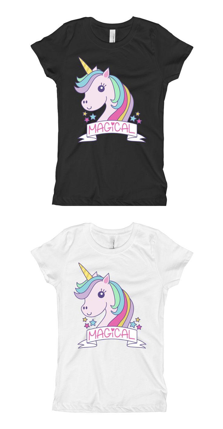 $16 Girls Unicorn Shirt - Unicorn Baby Outfit - Magical Unicorn Shirt Baby Outfit - Girls Cute Rainbow Unicorn Shirt Baby Outfit - For Girls