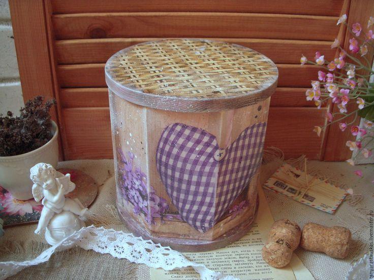 """Купить Короб """"Фиолетовый лепесток"""", короб для дома - фиолетовый, короб, короб дерево, короб для дома"""