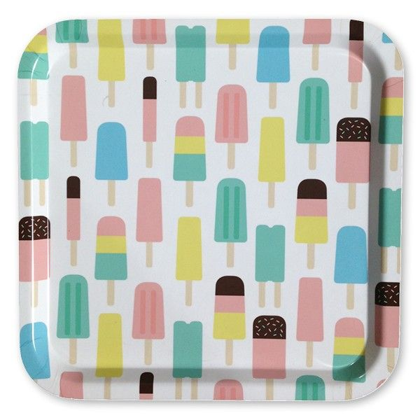 POPSICLES: Tray 32x32 cm produced in Sweden and made of Scandinavian birch. Perfect for serving lemonade or use it as a plate for your strawberrycake or cinnamonbuns...