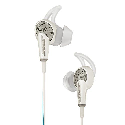 Bose QuietComfort 20 Acoustic Noise Cancelling Headphones, Apple Devices, White Bose