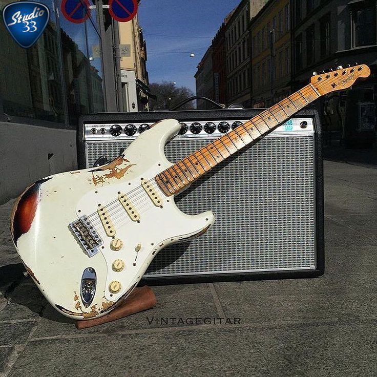 Does it qualify for #Straturday of it's not really a #Stratocaster? This pic from @vintagegitar is the very cool Mischief Maker from Fender Custom Shop; a #Strat body with #telecaster neck. #studio33guitar