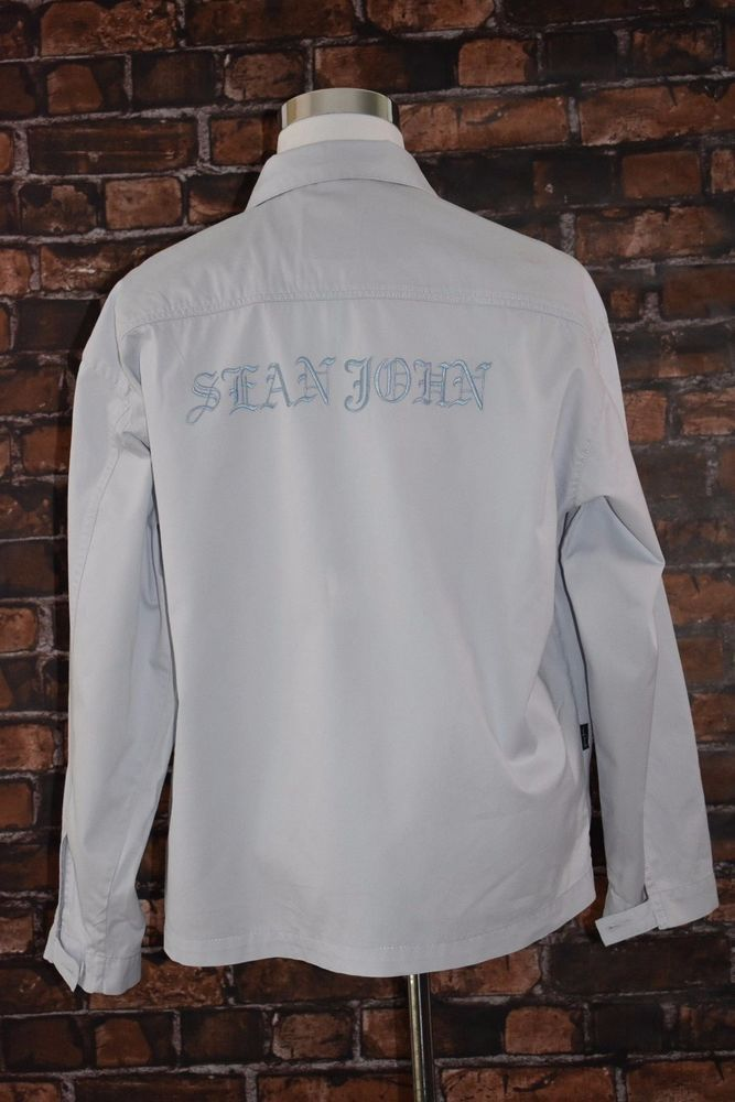 Seanjohn Powder Blue Mens Jacket Size XL Summer Casual Urban Hip Hop Streetwear  | Clothing, Shoes & Accessories, Men's Clothing, Coats & Jackets | eBay!