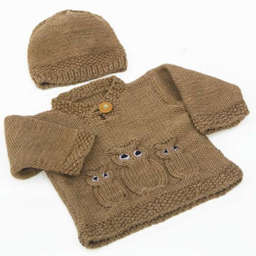 We Like Knitting: Owl Sweater & Hat - Free Pattern