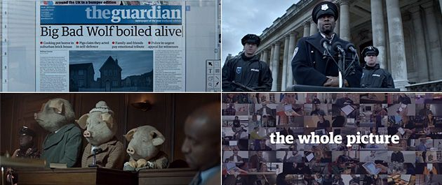 The Guardian: Three Little Pigs (by BBH)