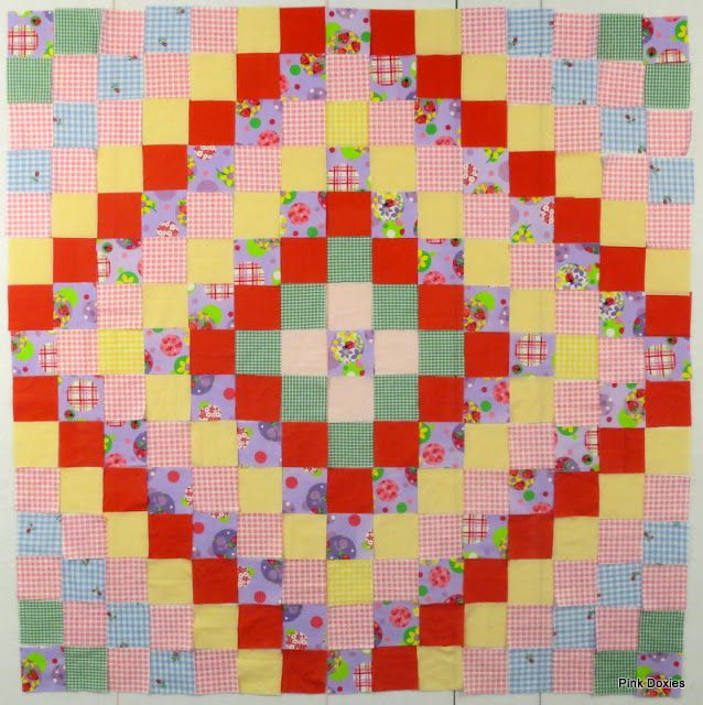 Pink Doxies: One Patch Layouts & Improv Charity Quilts
