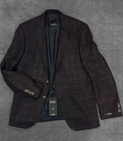 Digel - Doug - Veston de laine à carreaux - Bronze