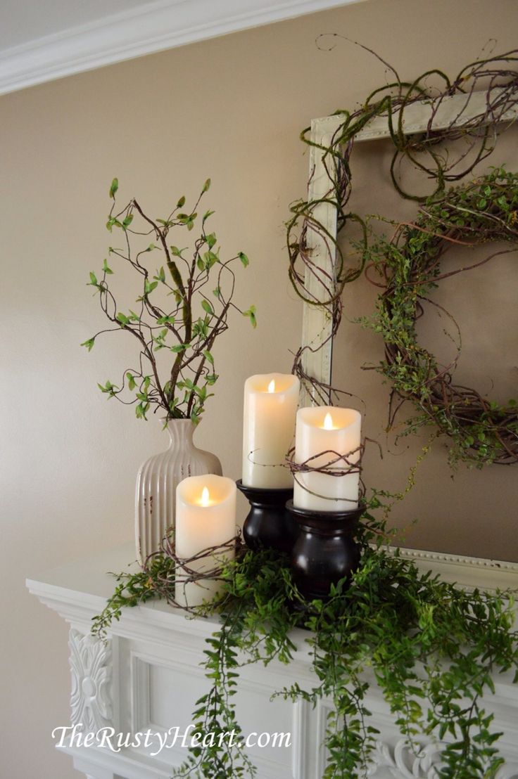 Spring Mantel  Mantle DecoratingMantel DecorMantel IdeasFireplace. Best 25  Fireplace mantel decorations ideas on Pinterest   Fire